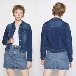 ONLY Fitted Jean Jacket Denim Ladies Size 38 (6)